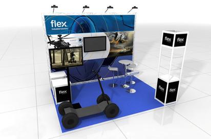 עיצוב ביתן לתערוכה - FLEX