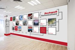 Rockwell Automation עיצוב מדבקת קיר במשרדי