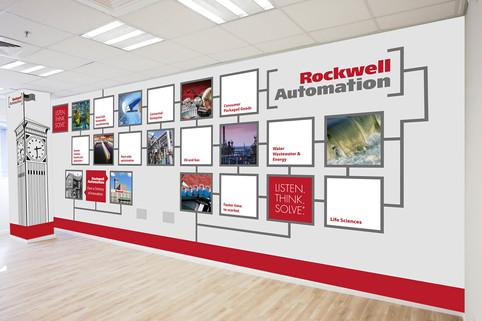 עיצוב מדבקת קיר - ROCKWELL