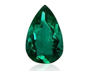 Emerald, pear shaped