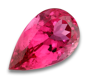 Pink tourmaline, pear shaped