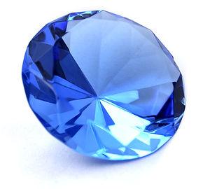 Sapphire, blue round sapphire