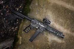 AR-9 with custom Cerakote job