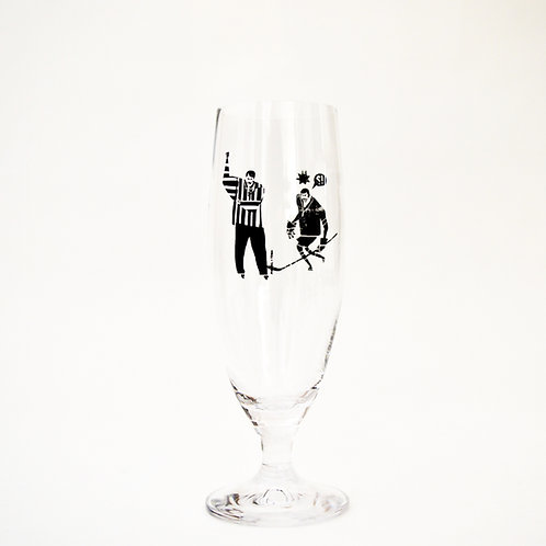 """THE REFEREE"" BEER GLASS"
