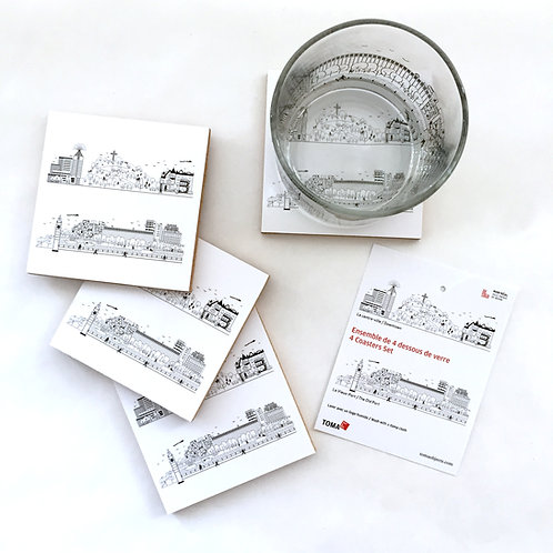 Montreal - Set of 4 coasters