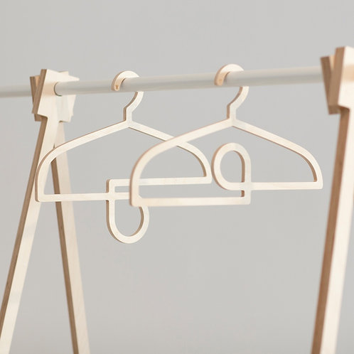 """OUTER + INNER LOOP"" COAT HANGERS"