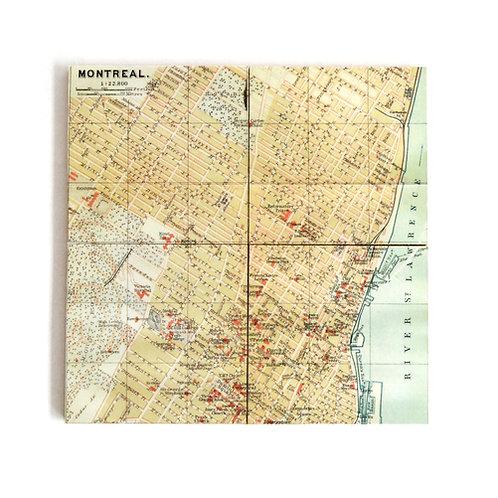 SOUS-VERRES - Vieille carte de MTL
