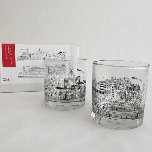 Two Whiskey Glasses Set