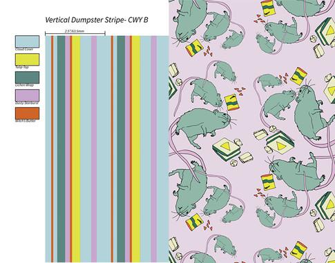 Stripe & 🐀 pattern