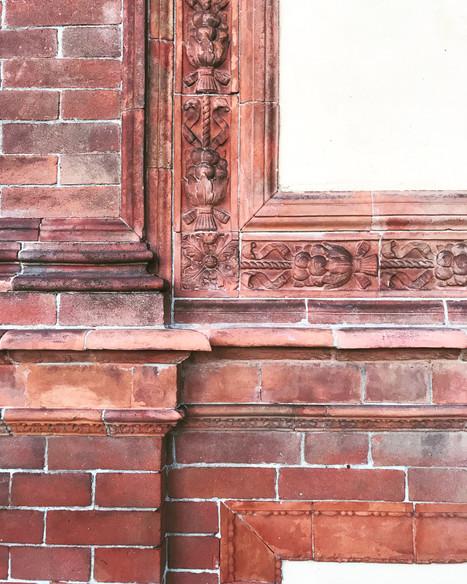 bricks of venice, italy
