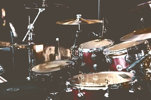 Bi-Weekly Drum/ Percussion Lessons (45 min lesson x 2/ mo)