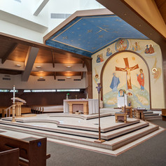 Interior renovation of St Mary Catholic Church Littleon, CO