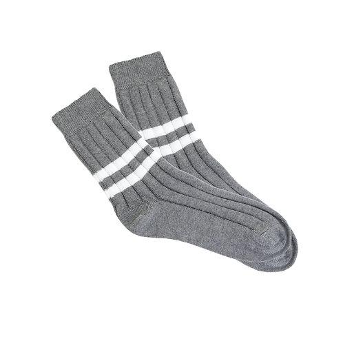 Grey - Double White Stripe W