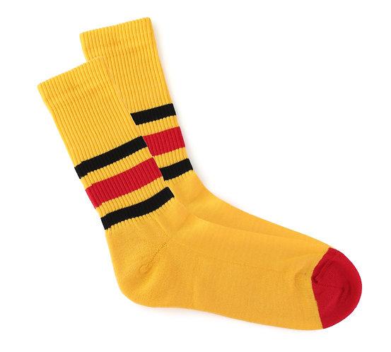 Yellow - Red & Black Stripes