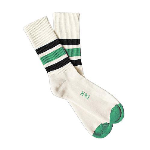Natural - Green & Black Stripes
