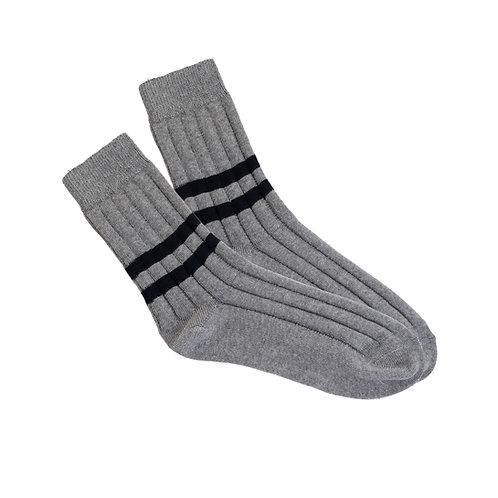 Grey - Double Black Stripe W