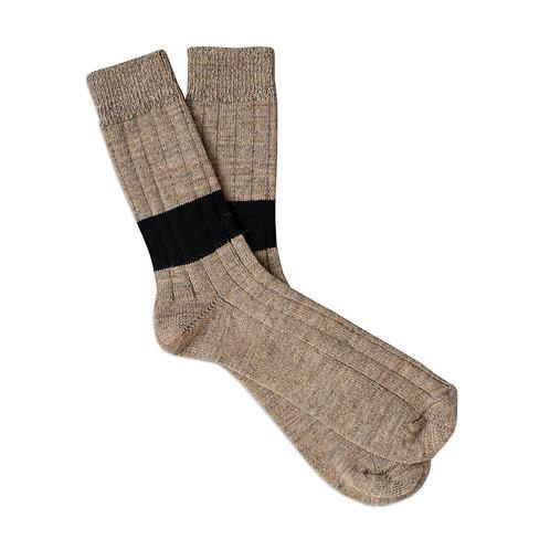 Ribbed Camel - Black Stripe