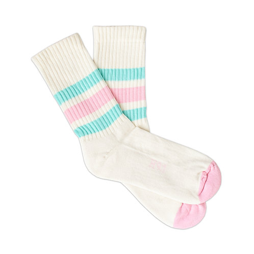 Natural 5.1 - Pink & Turquoise Stripes W