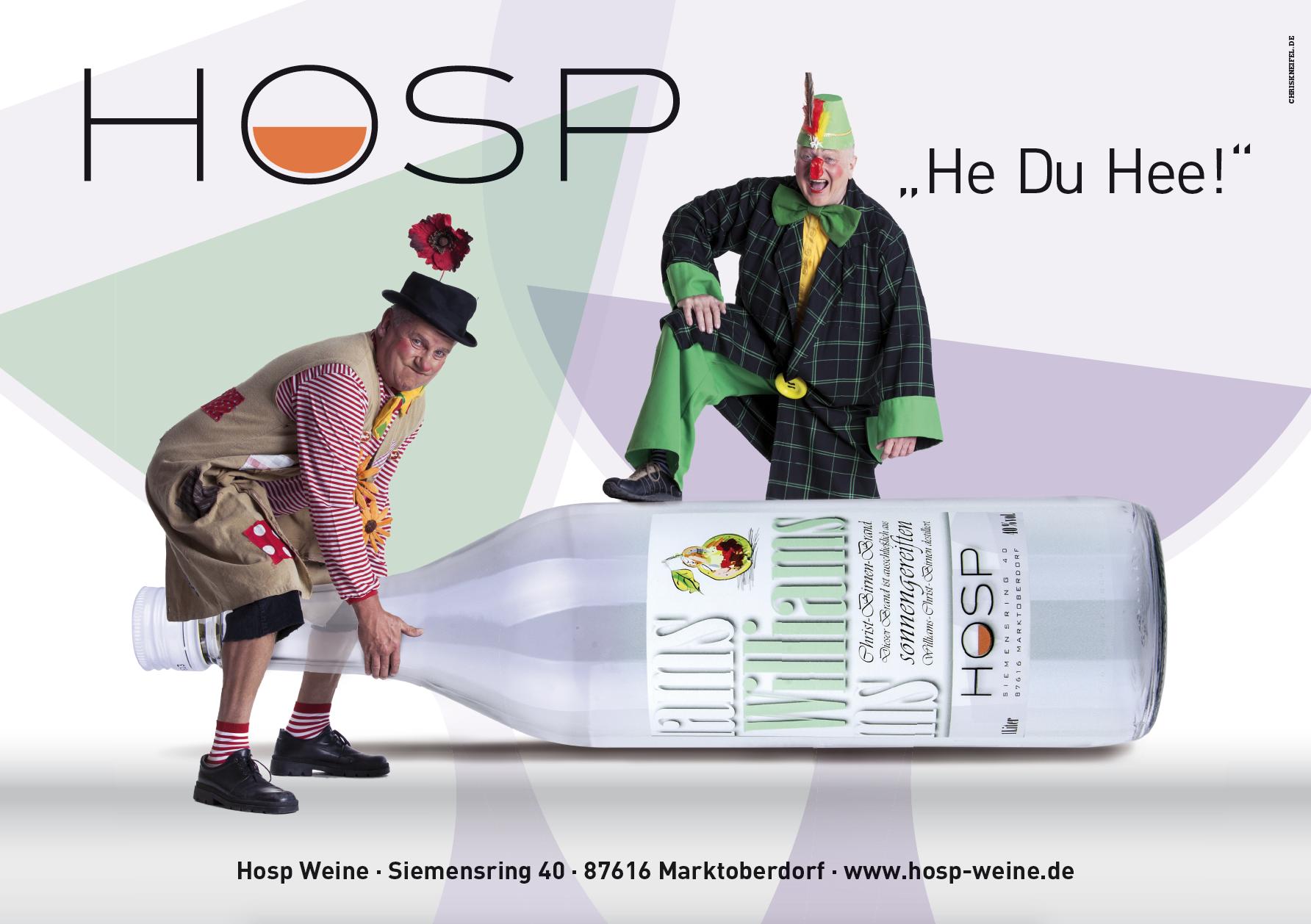 HOSP Weine, Faschingsplakat