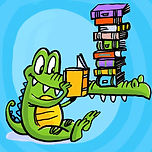 td croc w books.jpg
