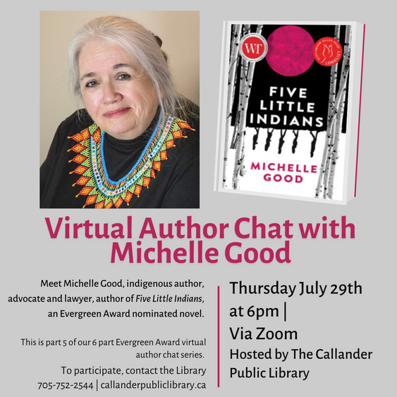 Virtual Author Chat with Michelle Good