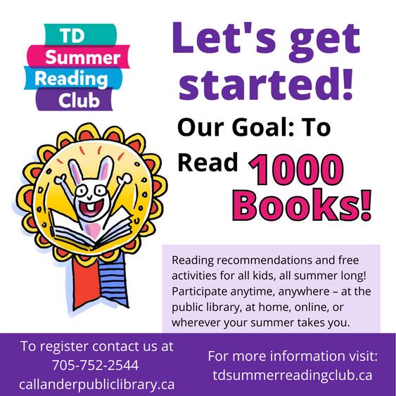 TD Summer Reading Club: Let's Get Started!