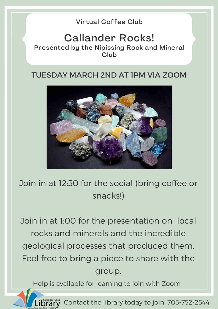 Rock and Mineral Club Coffee Club Poster