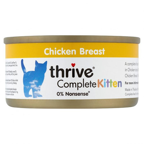 Thrive Cat Tin Chicken Kitten 75g