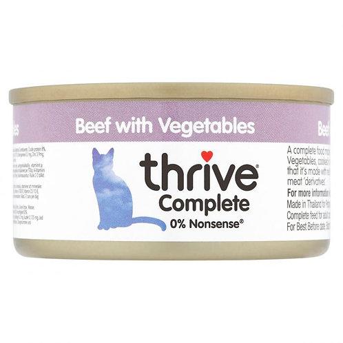 Thrive Cat Tin Beef & Vegtable 75g
