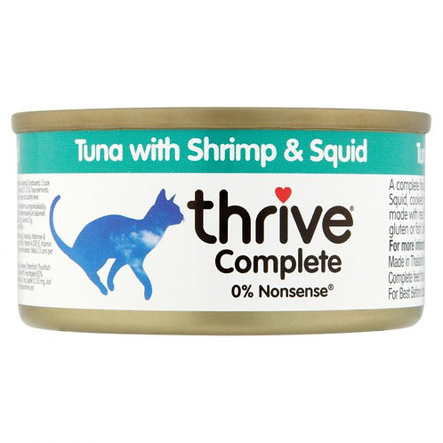Thrive Cat Tin Tuna, Shrimp & Squid 75g