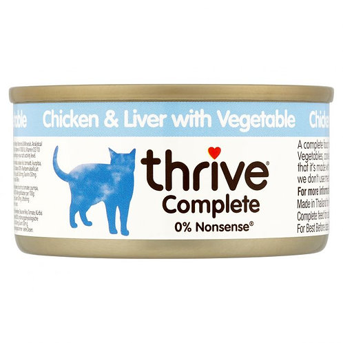 Thrive Cat Tin Chicken & Liver With Vegtable 75g