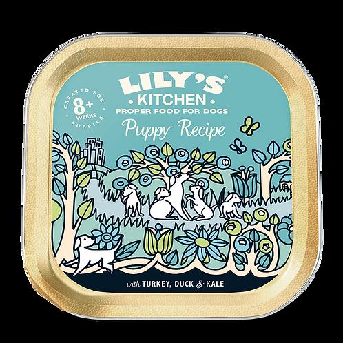 Lilys Kitchen Dog Tray Puppy Turkey/Duck 150g