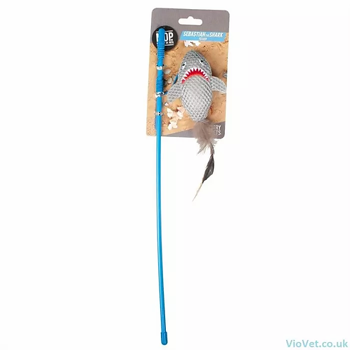 Ministry Of Pets Sebastian The Shark Cat Toy