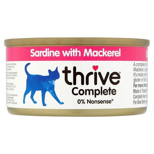 Thrive Cat Tin Sardine And Mackerel 75g