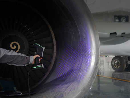HOW 3D SCANNING HELPS IN AEROSPACE - Maintenance and service of Airbus A350