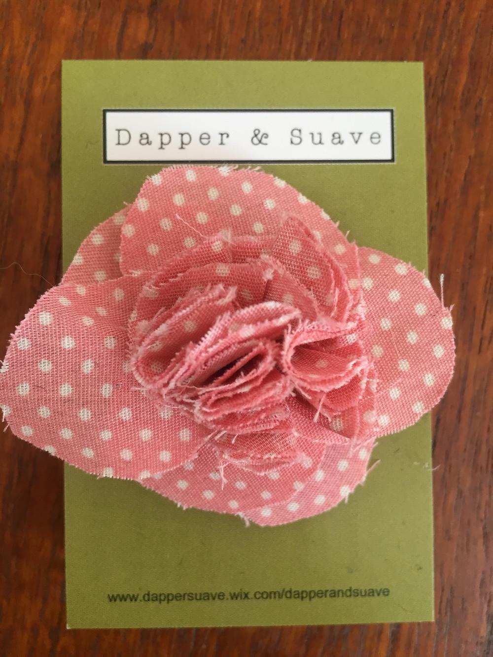 Dapper & Suave Pink Spot Lapel Pin