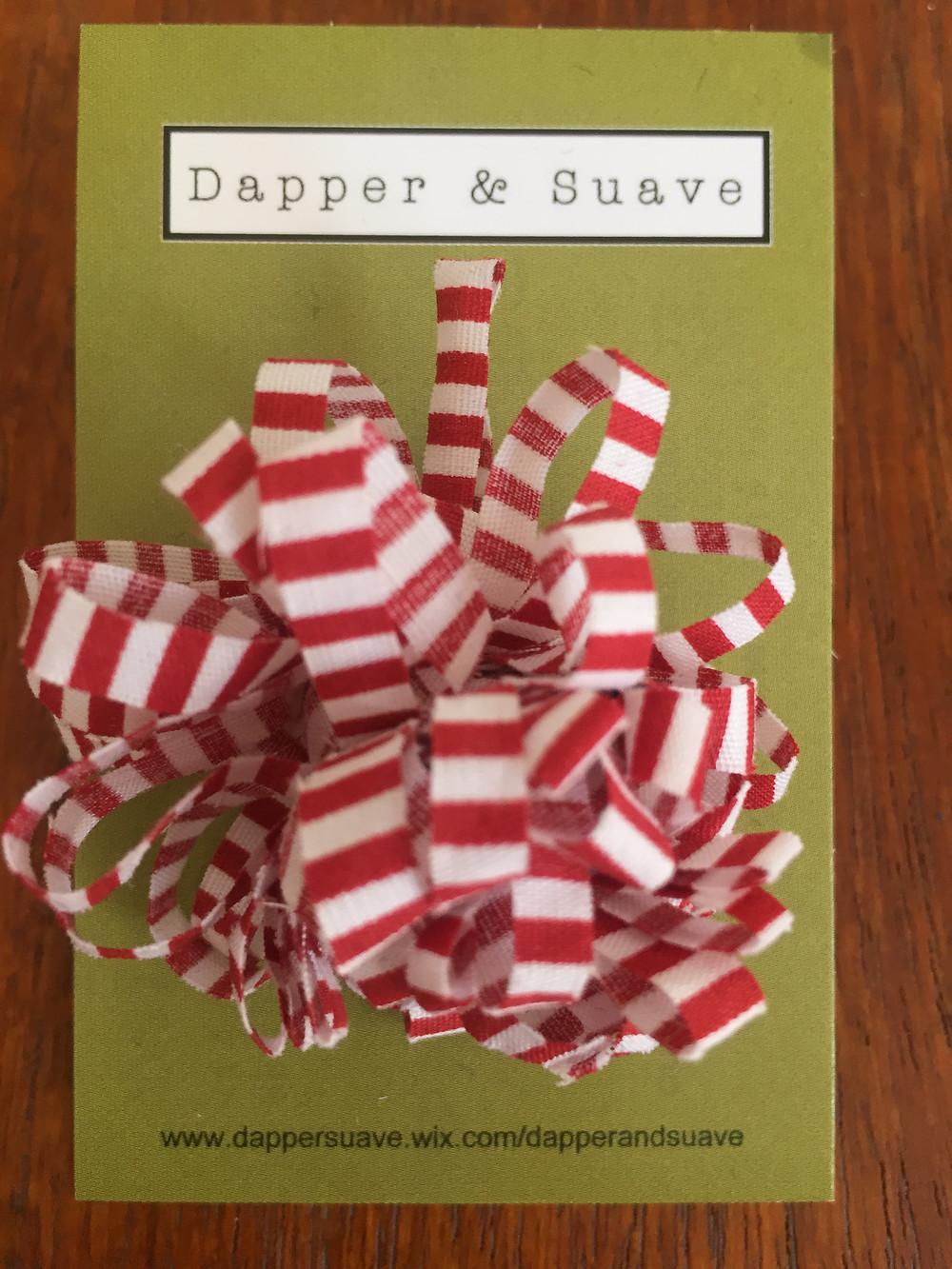 Dapper & Suave Red Stripe Lapel Pin