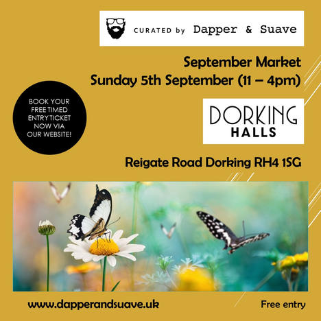 Curated by Dapper & Suave - BOOK NOW Sep