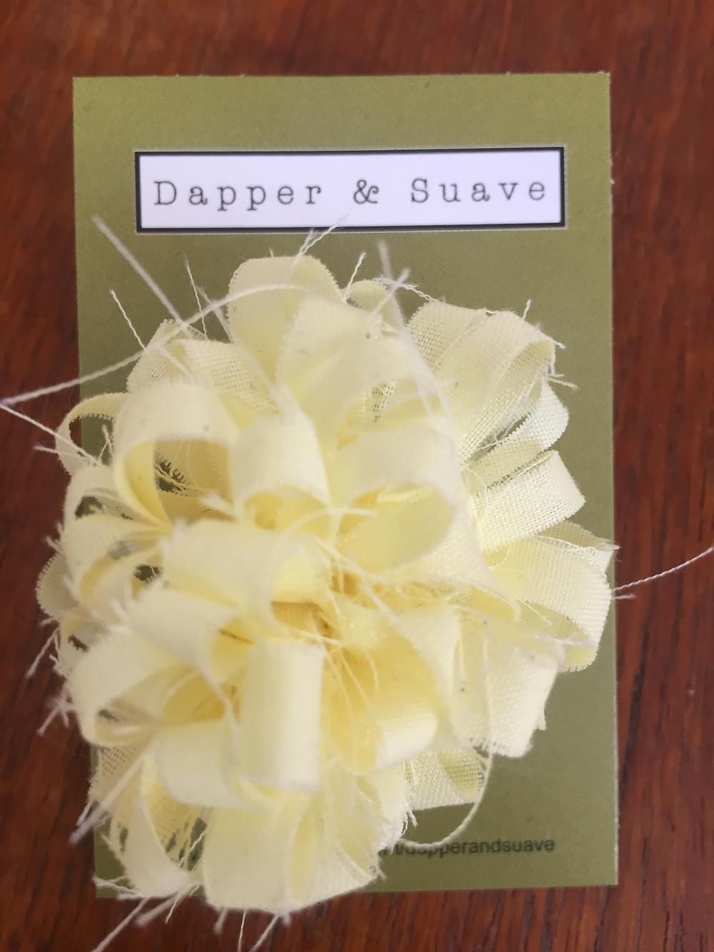 Dapper & Suave Yellow Lapel Pin