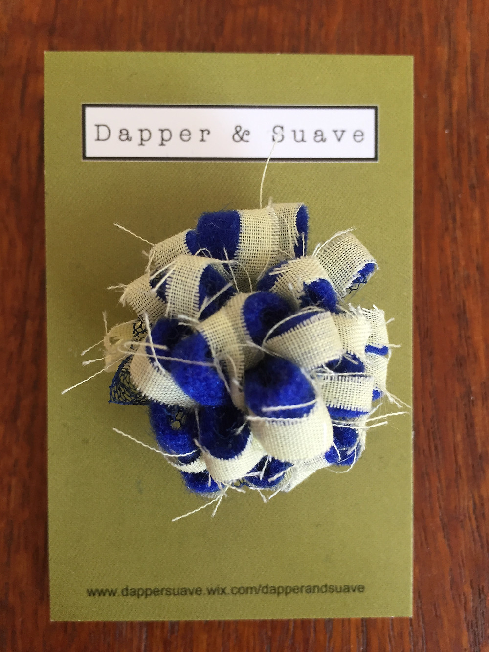 Dapper & Suave Blue and Yellow Lapel Pin
