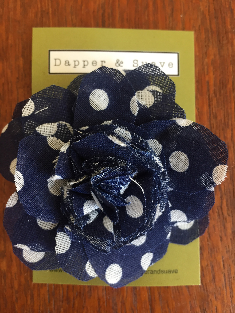 Dapper & Suave Navy Spot Lapel Pin