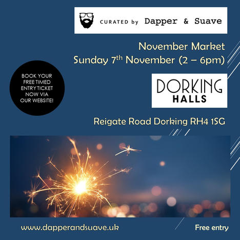 Curated by Dapper & Suave - BOOK NOW Nov