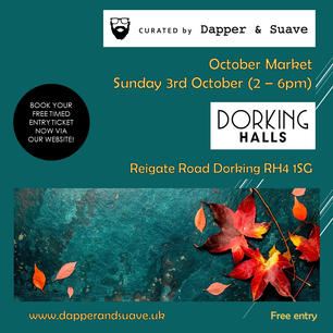 Curated by Dapper & Suave - BOOK NOW Oct
