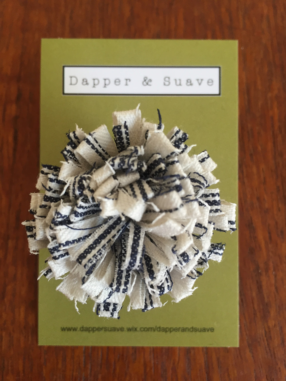 Dapper & Suave Blue White Linen Stripe Lapel Pin