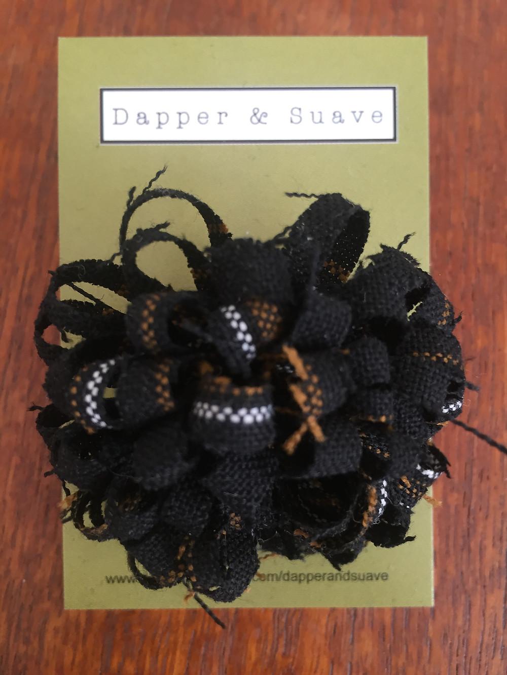 Dapper & Suave Black Tweed Lapel Pin