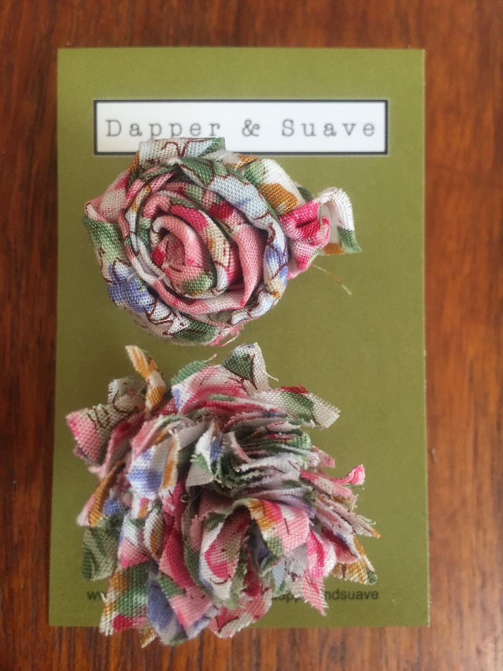 Dapper & Suave Small Floral Lapel Pin