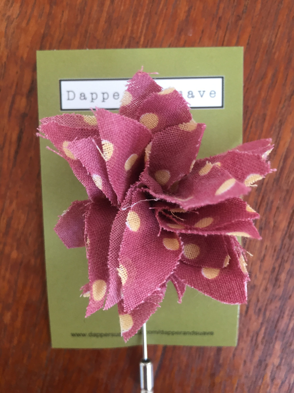 Dapper & Suave Plum Spot Long Lapel Pin