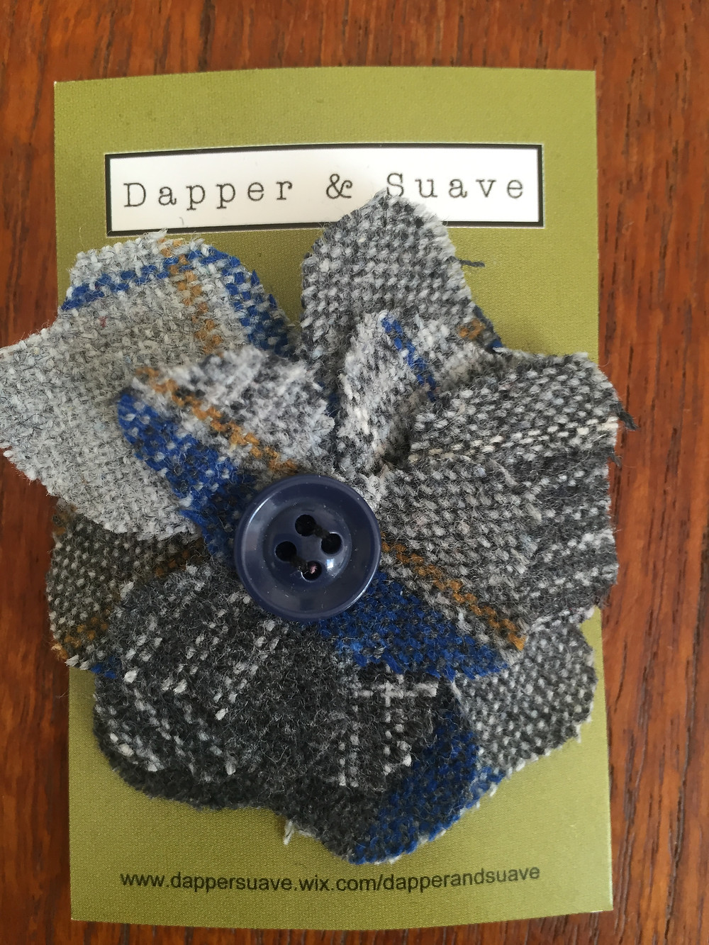 Dapper & Suave Tweed Button Lapel Pin