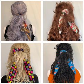 Hair Scarf Scrunchies