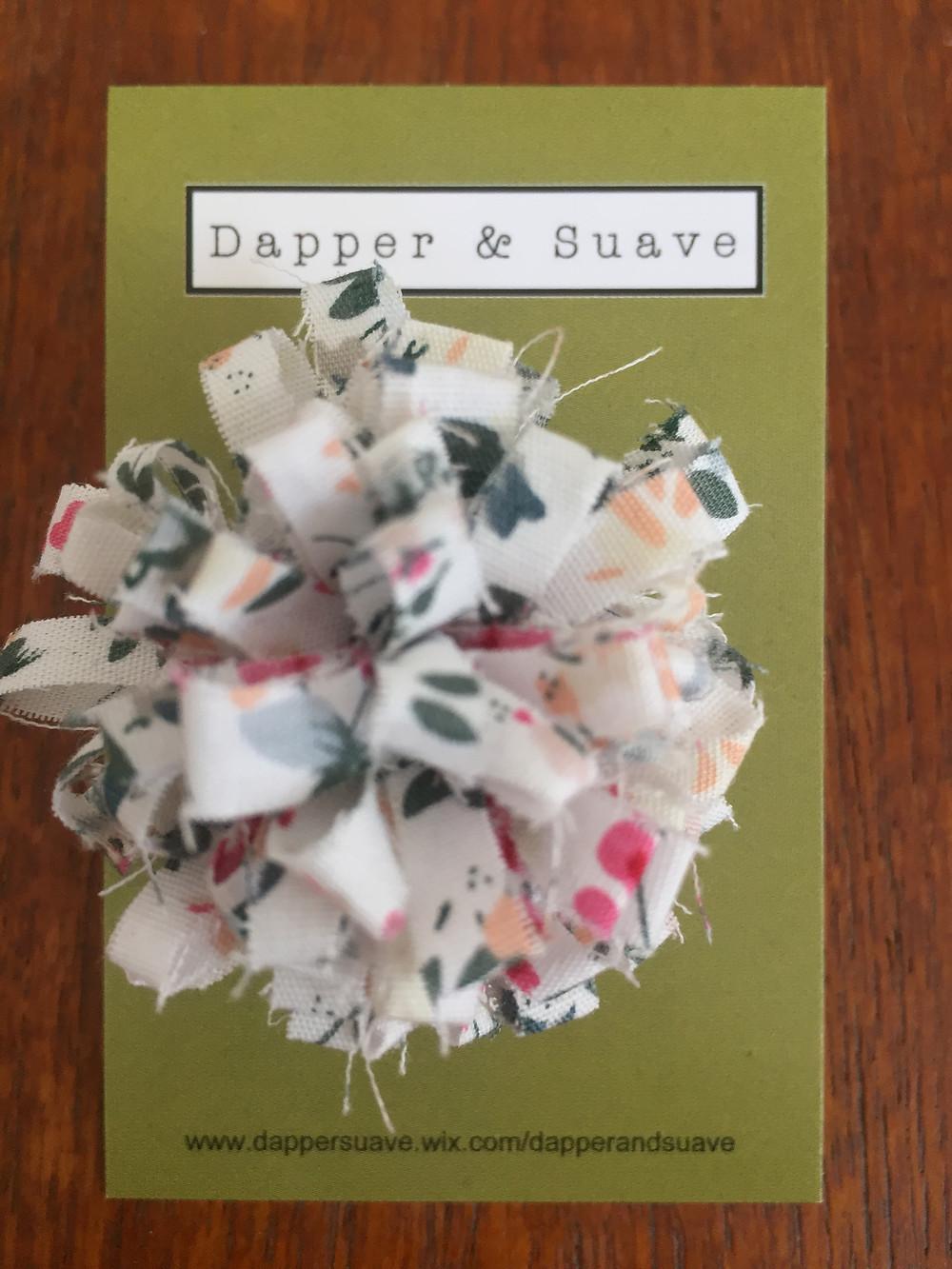 Dapper & Suave White Floral Lapel Pin